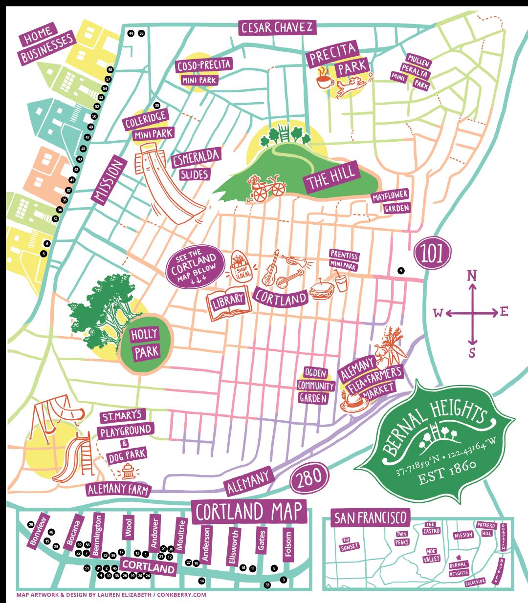 Bernal Business Map 2019